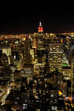 De nacht van New York Stock Afbeeldingen