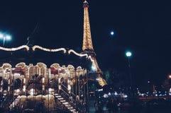De nacht van Parijs Royalty-vrije Stock Foto