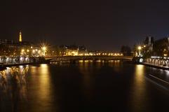 De nacht van Parijs, Frankrijk Royalty-vrije Stock Afbeeldingen