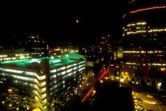 De nacht van Portland Stock Foto