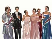 De nacht van Prom stock illustratie