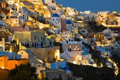 De nacht van Santorini (Oia) - Griekenland Royalty-vrije Stock Foto