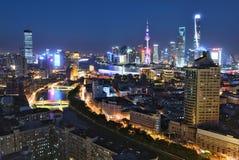 De Nacht van Shanghai Royalty-vrije Stock Foto's