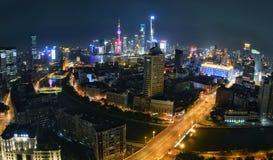 De Nacht van Shanghai Royalty-vrije Stock Foto