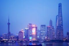 De nacht van Shanghai Lujiazui Royalty-vrije Stock Fotografie
