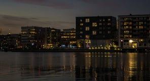 De nacht van de stad Stock Foto