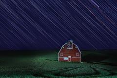 De Nacht van de stersleep verstreek Blootstelling in Palouse Washington royalty-vrije stock afbeelding