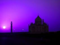 De nacht van Taj stock foto's