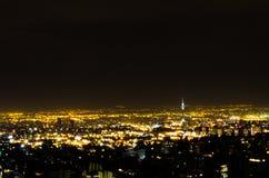 De Nacht van Teheran Royalty-vrije Stock Fotografie