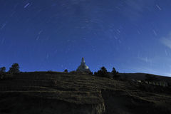 De Nacht van Tibet Stock Foto's