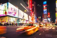 De nacht van Time Square New York Stock Foto