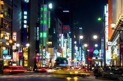 De nacht van Tokyo Stock Fotografie