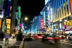 De nacht van Tokyo Royalty-vrije Stock Afbeelding