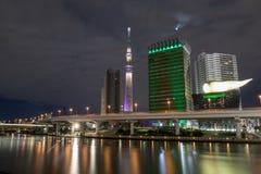 De nacht van Tokyo Royalty-vrije Stock Foto