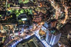 De nacht van Tokyo scape Royalty-vrije Stock Afbeeldingen