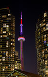 De nacht van Toronto Stock Afbeeldingen