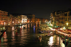 De nacht van Venetië Royalty-vrije Stock Foto