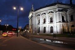 De nacht van Wenen Stock Afbeelding