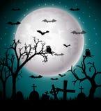 De nachtachtergrond van Halloween Stock Fotografie