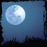 De nachtachtergrond van Halloween Stock Foto