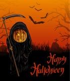De nachtachtergrond van Halloween Royalty-vrije Stock Fotografie