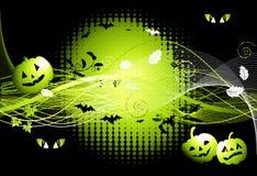 De nachtachtergrond van Halloween Royalty-vrije Stock Foto's