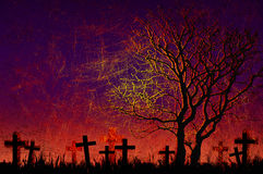 De nachtachtergrond van Halloween van Grunge geweven Royalty-vrije Stock Afbeelding