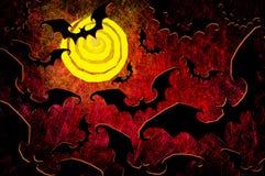 De nachtachtergrond van Halloween van Grunge geweven Stock Fotografie