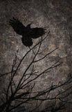 De nachtachtergrond van Halloween van Grunge geweven Royalty-vrije Stock Afbeeldingen
