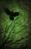 De nachtachtergrond van Halloween van Grunge geweven Stock Afbeelding
