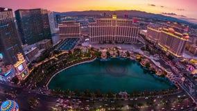 De Nachtantenne van Las Vegas stock videobeelden