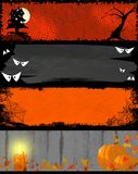 De nachtbanners van Halloween Stock Fotografie