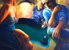 De nachtclub van het biljart stock illustratie