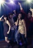 De nachtclub van vrienden Stock Afbeeldingen