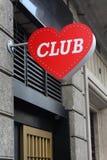 De nachtclubteken van het liefdehart Royalty-vrije Stock Foto