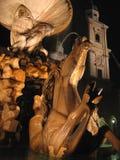 De nachten van Salzburg - Oostenrijk Stock Fotografie