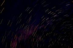 De nachten van de stersleep in himachal naddi, stock fotografie