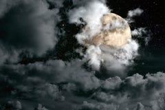 De nachthemel van de volle maan Royalty-vrije Stock Foto's
