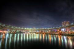 De nachtlandschap HDR van Tokyo Royalty-vrije Stock Foto's