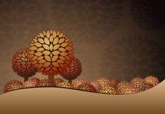 De nachtlandschap van de herfst. Stock Foto