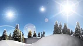 De nachtlandschap van de winter Royalty-vrije Stock Foto