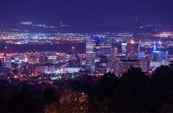 De Nachtlandschap van Salt Lake City stock afbeeldingen