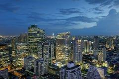 De Nachtlicht van Bangkok Stock Foto's