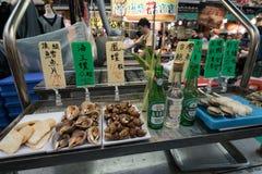 De Nachtmarkt van de Raohestraat, Taipeh, Taiwan stock foto's