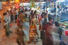 De nachtmarkt van Singapore stock foto