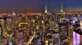 De nachtmening van de Stad van New York Royalty-vrije Stock Afbeelding