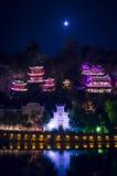 De nachtmening 12 van de Zhenyuan oude stad Stock Foto's