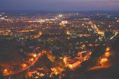 De nachtmening van Granada Stock Afbeeldingen
