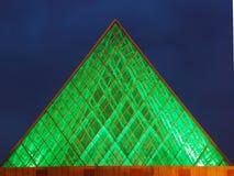 De nachtmening van het Stadhuis van Edmonton stock foto's