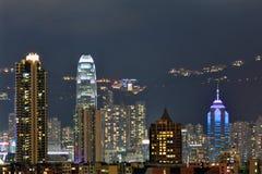 De nachtmening van Hongkong Royalty-vrije Stock Foto's